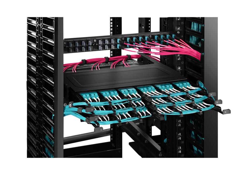 FHX Ultra Rack-Gehäuse  Extrem hohe Dichte und überlegene Leistung mit unerreichtem Fasermanagement