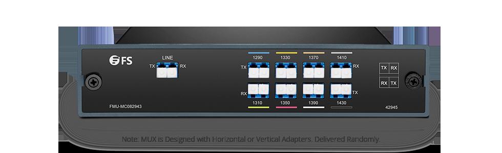 CWDM Mux Demux  Мультиплексор Mux/Demux 8-Канальный через Два Волокна