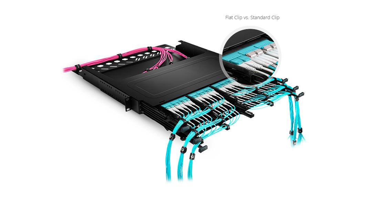 Cables LC uniboot  Cable Uniboot más compacto--Perfecto para cableado de densidad ultra alta