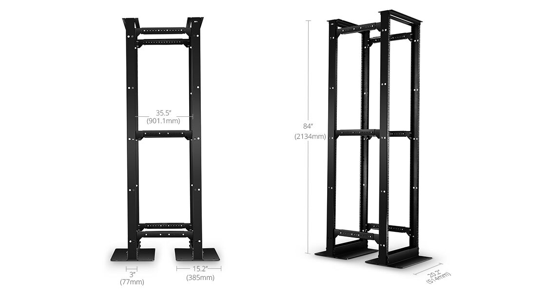 Open Frame Racks  Self-supporting & Self-squaring Base