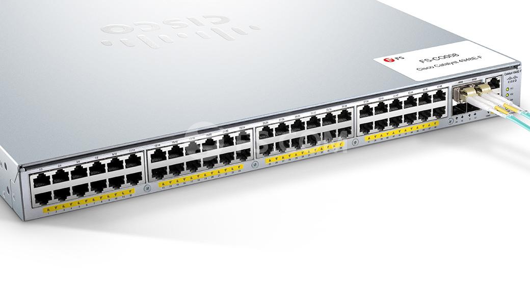 FS for Cisco Meraki SFP-10GB-SR Compatible, 10GBASE-SR SFP+ 850nm 300m DOM  Transceiver Module (Standard)