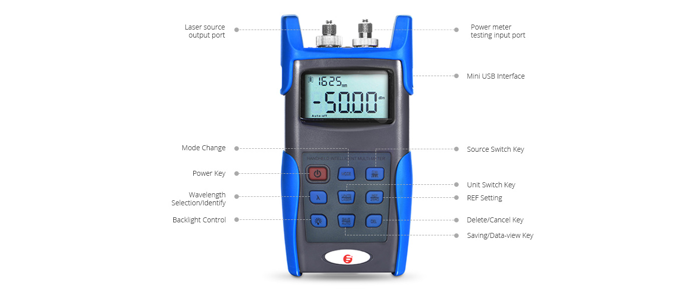 Optical Multimeter  High Precision of Colored LCD display
