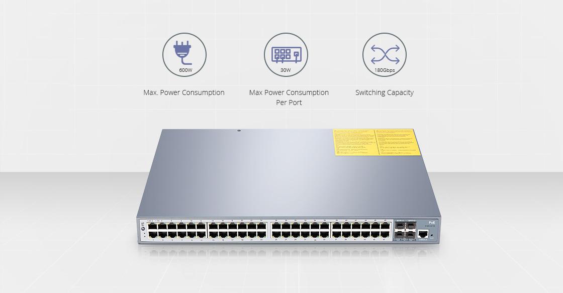 1G & PoE+ Switches  48-Port Managed Gigabit Switch mit ausgezeichneter Leistung