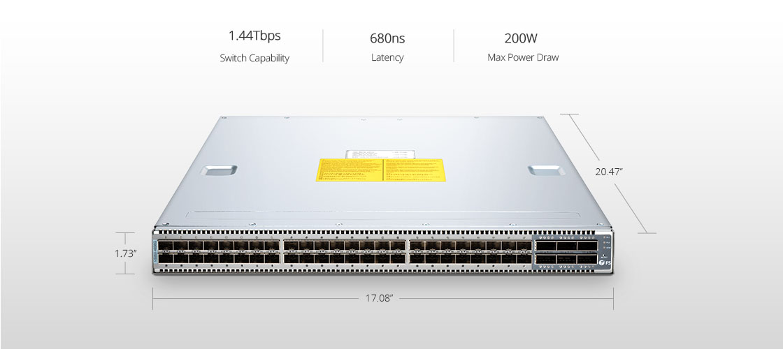Switches 40 Gigabit Ethernet  Potente switch de 10Gb ToR/Leaf