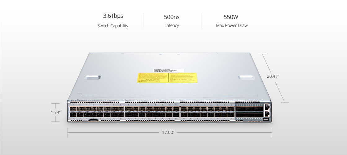 Switches 100G  Potente switch ToR/Leaf de 25 GbE
