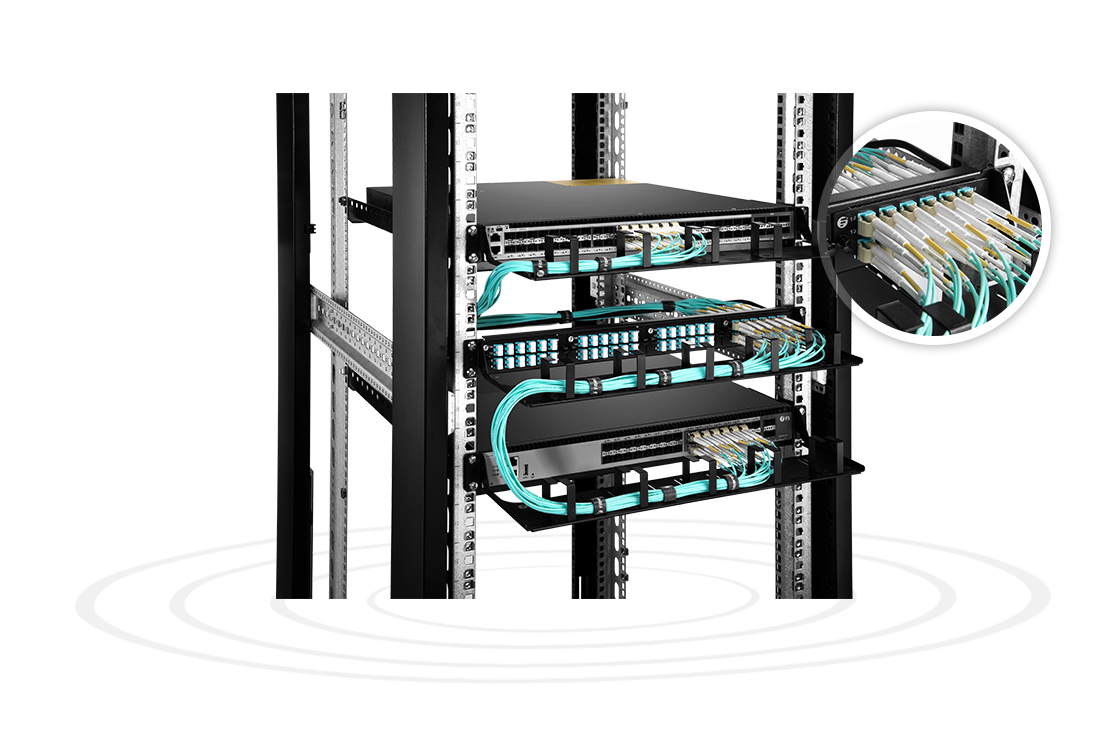 Оптические патч-панели Панель адаптера волокна высокой плотности для сквозных приложений