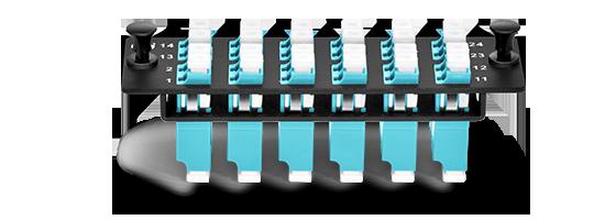 Оптические патч-панели 1. Модернизированная структура с табличкой безопасности