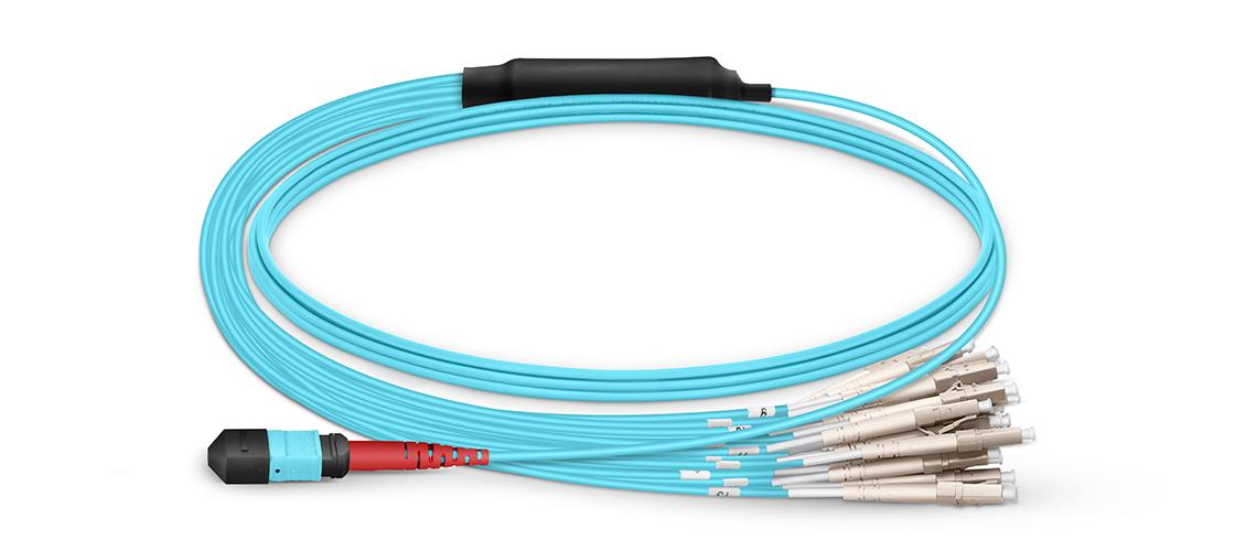 MTP® / MPO-LC Breakoutkabel Machen Sie MTP Breakoutkabel zu Ihrer Wahl für hochdichte Glasfasernetzwerke