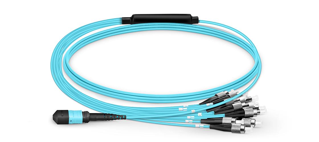 Cables breakout MTP®/MPO-LC Haz que el cable de conexión MTP sea tu elección para redes de fibra de alta densidad