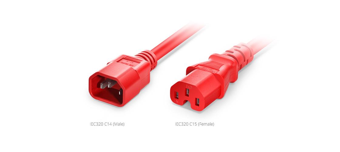 IEC60320 Netzkabel  IEC320 C14 auf IEC320 C15 Netzkabel-Verlängerung