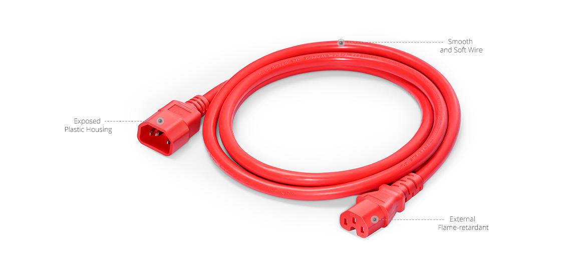 IEC60320 Netzkabel  Verarbeitung von Netzkabeln
