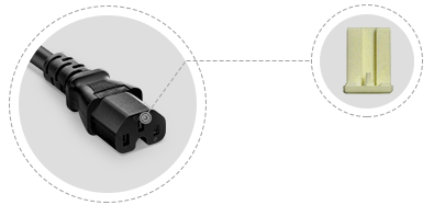 IEC60320 Power Cords Internal Plastic Frame