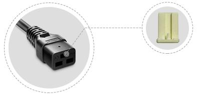 IEC60320 Netzkabel Interner Kunststoffrahmen