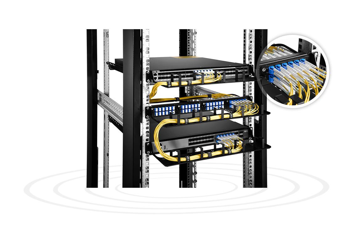 FHD LC SC MTP FAPs  LWL-Adapter-Panel mit hoher Dichte für durchlaufende Anwendungen