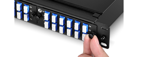 Fiber Optic Panels  4. Tool-less Installation with Plastic Rivets