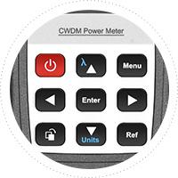 Optischer Leistungsmesser Einzigartiges Button Design