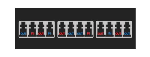 FHX TAP Кассеты Отношения оптического порта TAP