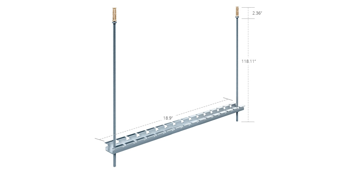 Wire Mesh Cable Tray  480mm T-Trapeze Wire Mesh Cable Tray Ceiling Mounting Kit