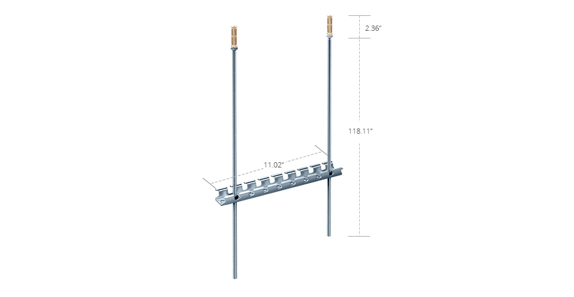 Wire Mesh Cable Tray  280mm T-Trapeze Wire Mesh Cable Tray Ceiling Mounting Kit