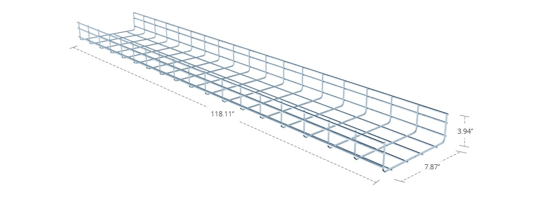Wire Mesh Cable Tray  200mm Straight Section Wire Mesh Cable Tray