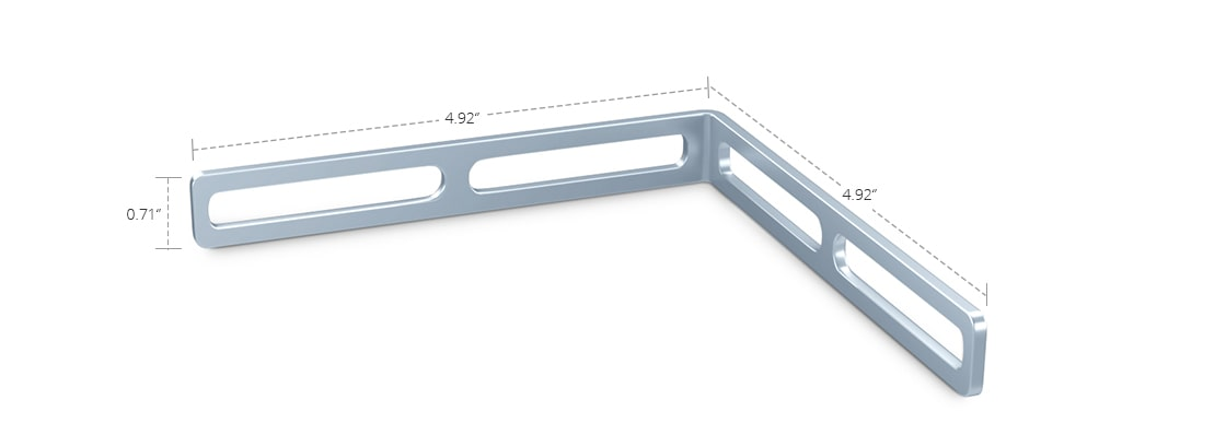 Wire Mesh Cable Tray  90° Strengthening Bar Kit