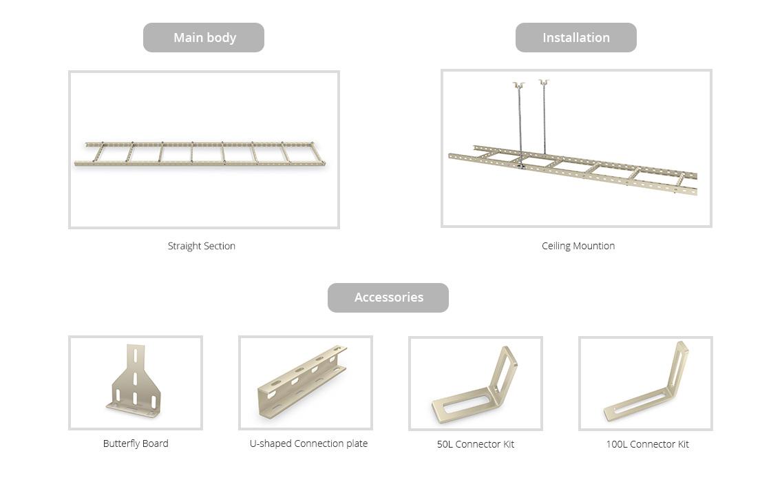 Steel U Cable Ladder  FS Raceway System