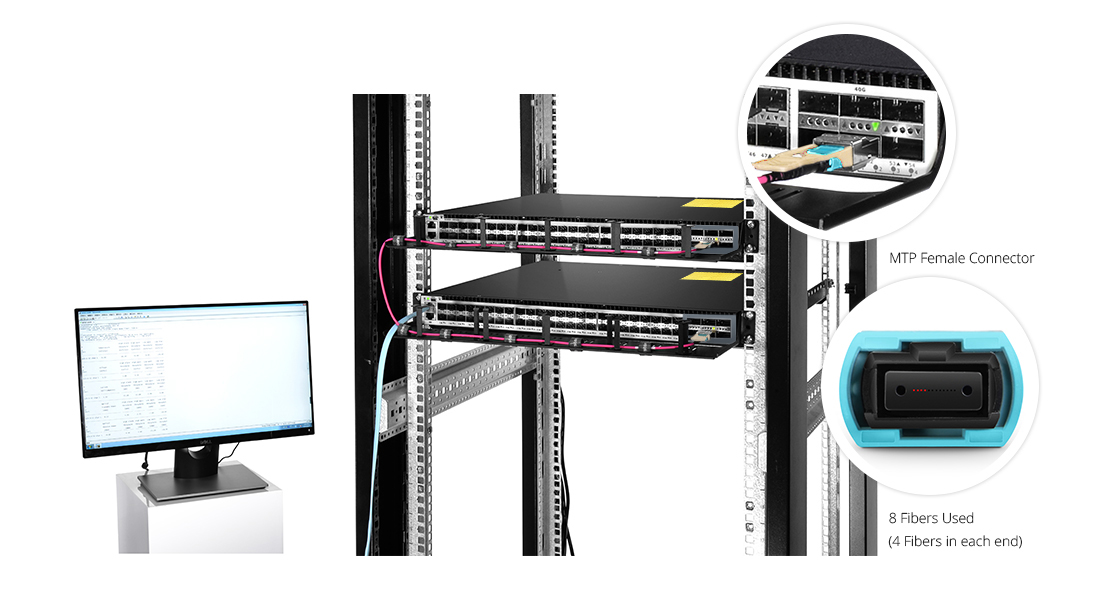 Customized MTP Fiber Cables                          Make MTP Trunk Cable Your Choice for High Density Fiber Networks