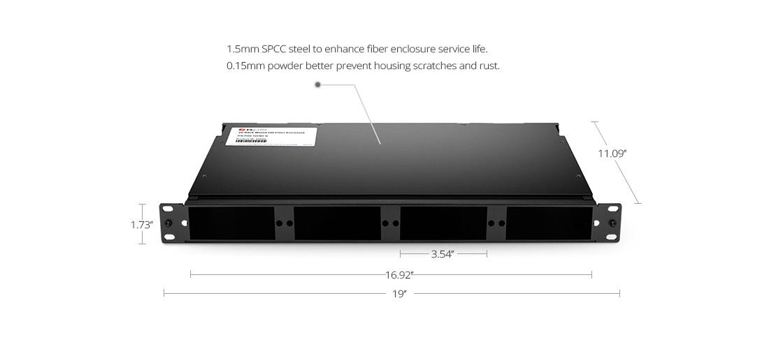 Montaje en Rack FHD  Carcasa de acero resistente reforzada SPCC recubierta de polvo negro