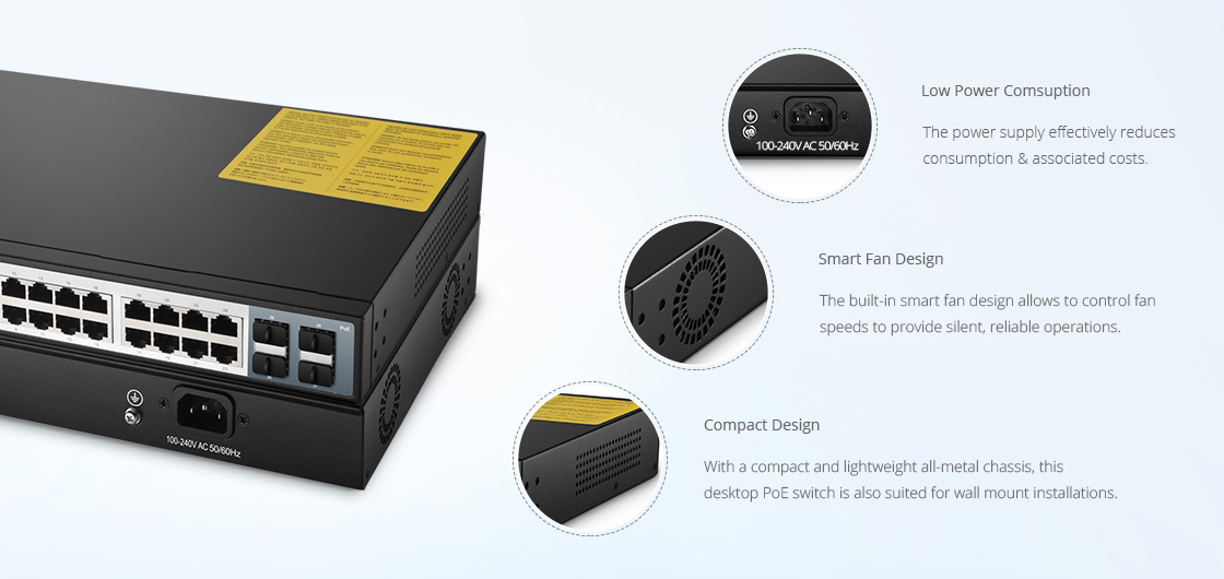 1G & PoE Switches  Superior Hardware Design