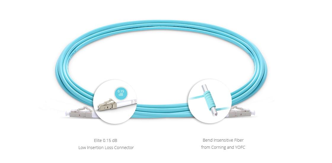 Cables LC+ de alta densidad personalizados  Cable de fibra óptica insensible a la curvatura