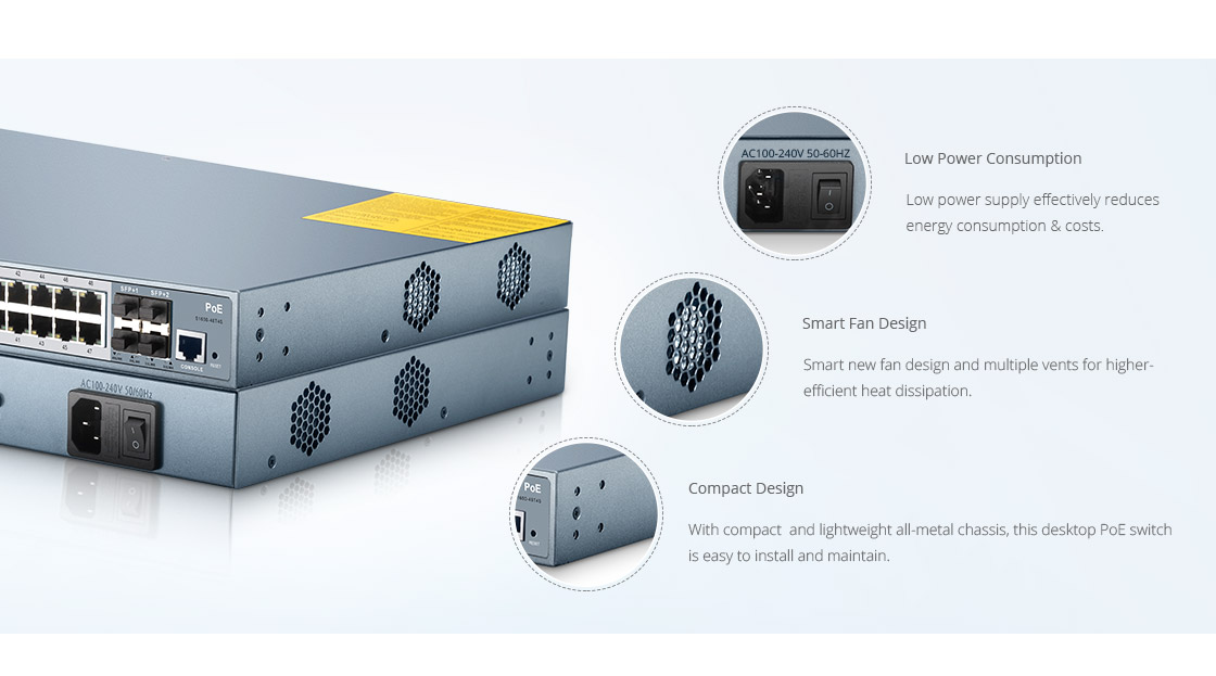 1G и PoE Коммутаторы  Улучшенный Дизайн Оборудования