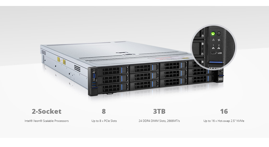 Servers  High Expandability for SMB and Data Center Deployment