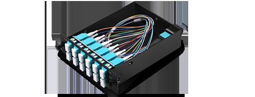FHD MTP®-LC Cassettes  Corning ClearCurve OM4 Fiber
