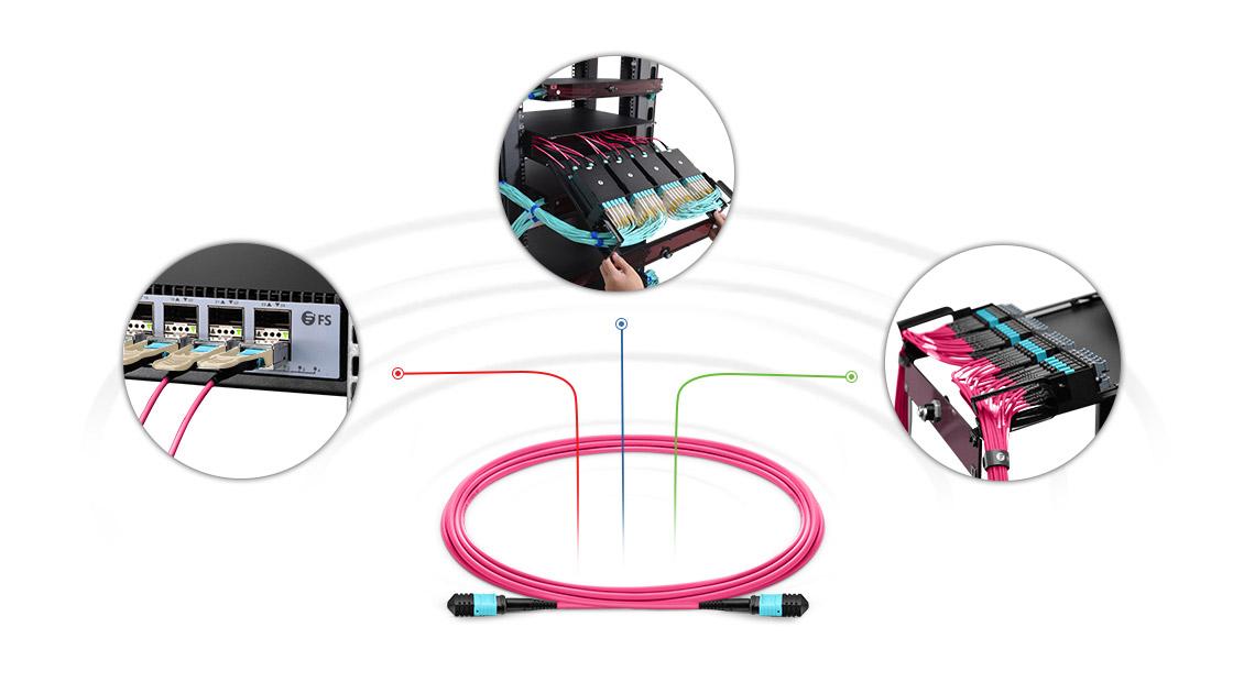 Cables personalizados MPO  Solución multifibra de alto rendimiento