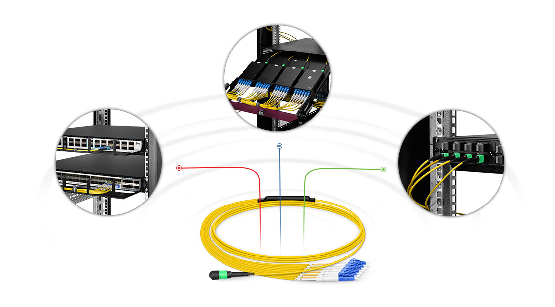 Customised MTP Fibre Cables  High Performance Multifiber Push On Solution