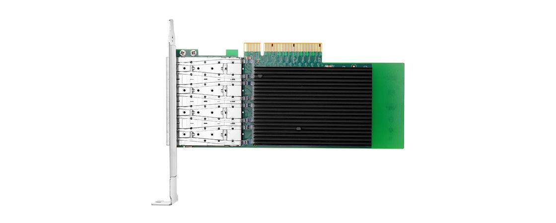 Adaptadores PCIe 10G  Adaptadores de servidor SFP+ 10G de 4 puertos con conectividad SFP+