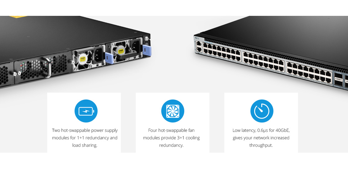 Switches 40 Gigabit Ethernet  Hardware de alta disponibilidad