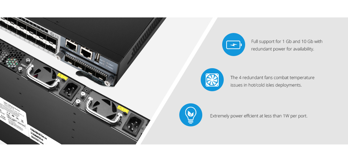 1G/10G Switches High Availability and Power Efficient