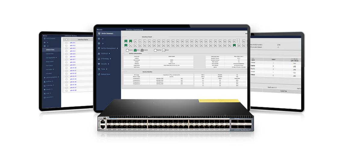 100G Switches  Ausgezeichnete Managementkapazität