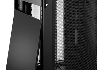 Server/Network Cabinets Removable side panels are 'half size' to make them smaller and lighter improving ease of installation.