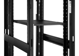 Server/Network Cabinets Adjustable fixed shelf supports equipment without rack-mounted brackets such as servers, UPS units and other equipment.