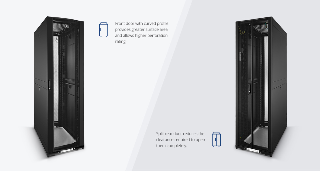 Server/Network Cabinets  High-flow Perforated Doors to Maximize Airflow
