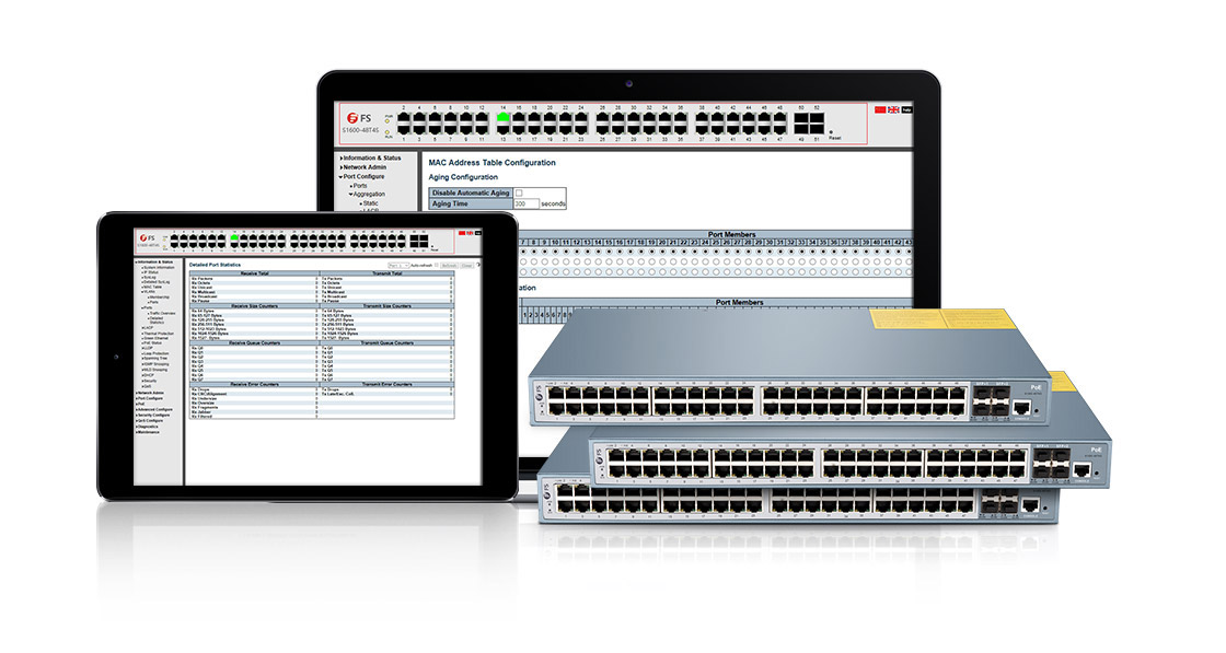 1G и PoE Коммутаторы  Простое в Использовании Веб-управление