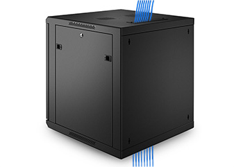 Wall Mount Cabinets Convenient top and bottom ports allow easy cable routing.