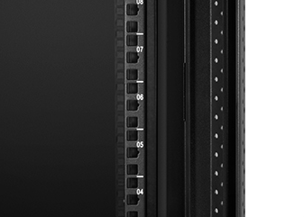 Wall Mount Cabinets Mounting holes and numbered rack make equipment installation easy.