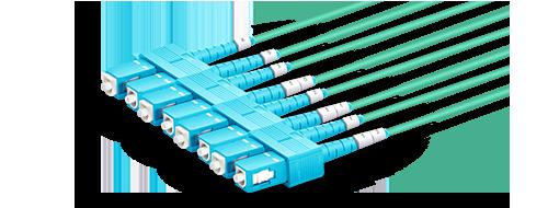 Cables breakout MTP-LC Conector SC de baja pérdida de inserción de 0.2dB