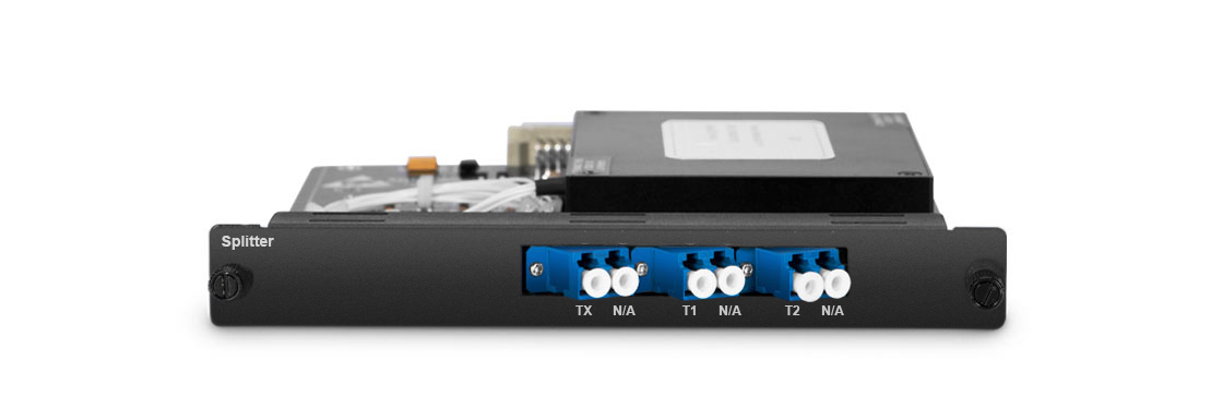 Line Protection Optical Line Protection Module, Placed in 1U/2U/4U Managed Chassis
