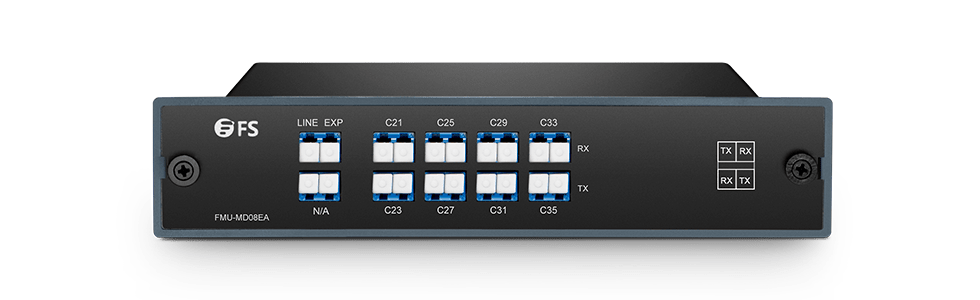 DWDM Mux Demux  Mux/Demux 8 Channels over Single Fiber in a Pair