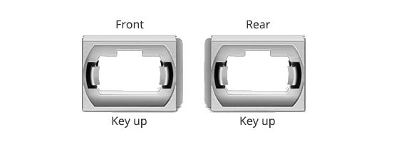 Adaptateurs/Coupleurs Fibres Optiques Position de Key Aligné