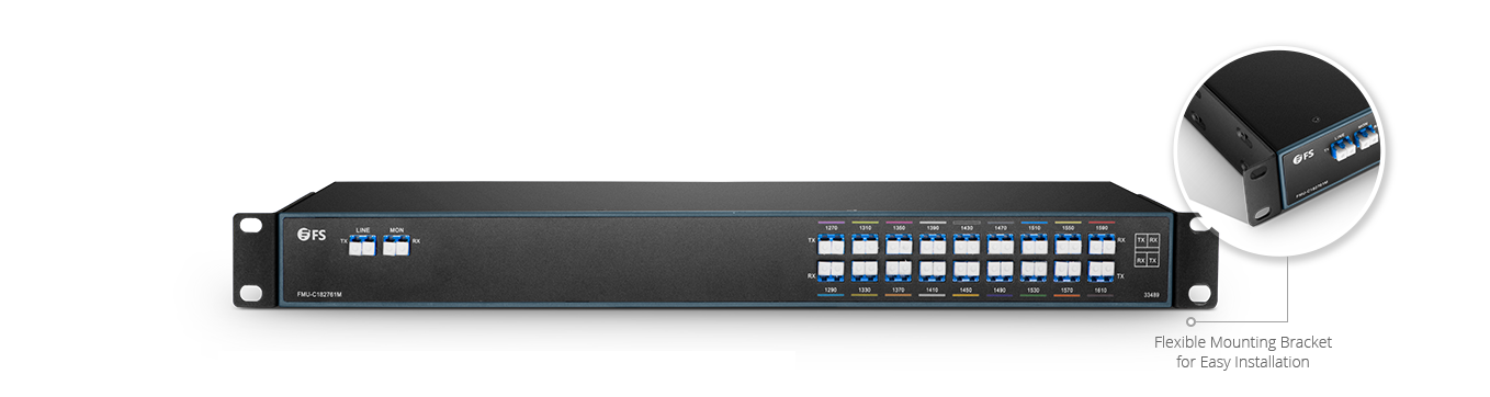 CWDM Mux Demux Mux/Demux 18 Channels over Dual Fiber